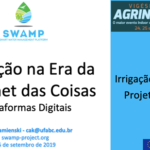 SWAMP presented at Agrinordeste 2019 in Recife (Brazil)